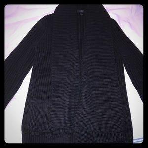 Jcrew black coat/sweater size S